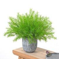 Dekorative Blumen Kränze Grün 5 Gabelbündel Spargel Künstliche Pflanze Kreative Dekoration Kunststoff Blume Farn Home