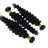 Wholesale Healthy Young Grils Donor Unprocessed Brazilian Human Hair Extension Deep Wave 3 Bundles Natural Color