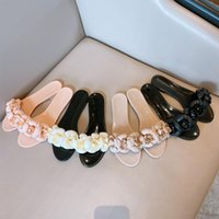 2021Summer Hot Brand Design Camelia Flower Donne Donne Jelly Shoes Pantofole Summer Flip Flops Sana Sandali Sandali Piatti Diapositive da donna