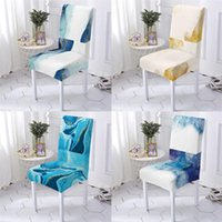 Chair Covers Geometry Style For Chairs Bar Cover Computer Marble Pattern Christmas Home Stuhlbezug