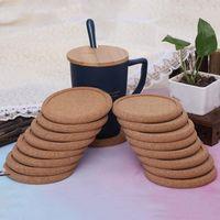 Современный минималистский коврик для чашки канавкой деревянная подушка круговая полировка пробковая изоляция колодки чашки коврики