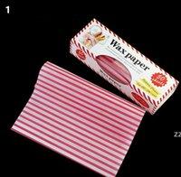 50 pz / scatola Strumento di carta di cera Grasso alimentare grasso alimenti alimenti alimenti wrapper wrapper wrapping fritters per hamburger fririss fririss o focaccarino strumenti di cottura HWB9770