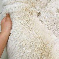 40-100 см длинные плюшевые круглые собака кровать мягкая зимняя кошка кровати спальные шезлонг щенок подушки коврики самообладающие домашние кровати для собак / кошек 25 S2