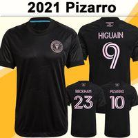 2021 Inter Miami CF Beckham Mens Soccer Jerseys Pizarro Pivlegrini Trapp Home White Away Black Football Hemd Kurzarm Uniformen