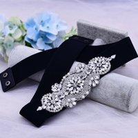 Rhinestone Applique Dress With Belt Evening Dresses Dresses Accessories For Women For Weddings Bridesmaid Wedding Belt Crystal