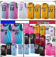 BAM 13 Adebayo Tyler 14 Herro Jimmy Dwayne Dwyane 3 22 Butler Wade Basketball Jersey 2021 Goran 55 Robinson Kendrick New Saison Jers Jersey