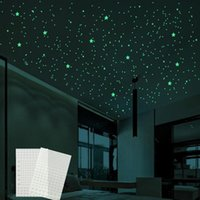 Wall Stickers 3D Bubble Luminous Stars Dots Sticker Glow In The Dark For DIY Kids Baby Rooms Decals Fluorescent