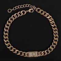 Fashion 14k gold cuban link chain necklace choker bracelet for mens and women lovers gift hip hop jewelry With BOX