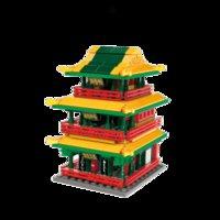 In magazzino K10117 Antica architettura cinese Building Blocks Pechino Palace Cultura Creatore Streetscape Giocattoli educativi per bambini regalo Mattoni