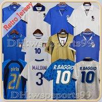 1998 Retro Baggio Maldini Soccer Jersey Football 1990 1996 1982 1982 Rossi Schillaci Totti del Piero 2006 Pirlo Inzaghi Buffon Italia Cannavaro