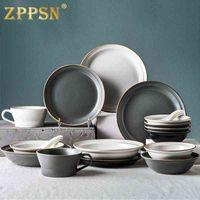 Italiaanse creativiteit Nordic Modern Simple Personalized Bowl Dish Set Huishoudelijke geschenkplaatgerechten en eetstokjes