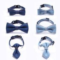 Домашняя одежда для собак Регулируемая джинсовая галстук-галстук для домашних животных галстук щенок мода маленькая средняя собака кошка воротник шеи ремешок аксессуары