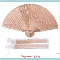 Favor Event Festive Party Supplies Home & Garden60-90Pcs Personalized Wooden Fan Favors Gifts For Guest Sandalwood Hand Wedding Decoration F