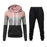 Women's Two Piece Pants Women Tracksuit 2 Set Hoodie + Sport Suit Female Autumn Winter Sweatshirt Sets Sportswear Pullover Suits For Woman