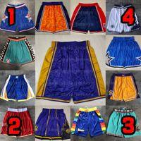 Equipe Basquete Curto Homens Esporte Shorts Hip Pop Pant Com Bolso Zipper Sweatpants Declaração de Desempenho Swingman StitchedNBA.Shorts