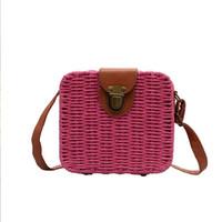 HBP One Shoulder Bag Messenger Handbags Fashion Plain Straw Hollow Out Crochet Hasp Free Shipping Women Flap Bag