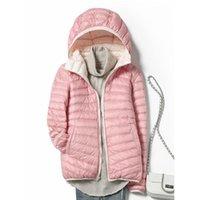 Женские куртки теплые пальто варенье пуховая куртка женская двухсторонняя обратимая осень зима с капюшоном для женских повседневных топов Parka