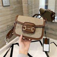 2021 أفضل مصممي الفمز الخصم المطبوعة 1955 حقائب الكتف خمر الأزياء حقيبة حقائب عالية الجودة النساء حقائب crossbody حقائب