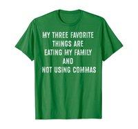 Mis tres cosas favoritas que no usan camisas comas, gramática