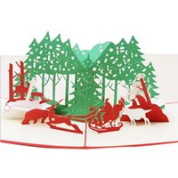 Greeting Cards 3D Up With Envelope Laser Cut Post Card For Christmas Valentine' Day Party Wedding Decoration #w