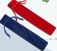 펜 가방 크리 에이 티브 디자인 플러시 벨벳 파우치 홀더 밧줄 사무실 학교 쓰기 공급 학생 선물 EWA4144