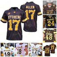 Custom Wyoming Football Jersey NCAA College 17 Josh Allen 6 Xazavian Valladay 15 Levi Williams 5 Isaiah Neyor 96 Bertagnole 33 Charles Hicks 44 Victor Jones