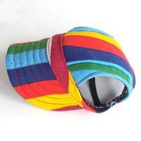 Dog Apparel Pet Hat Accessory Baseball Cap Small Hats With Ear Holes Canvas Sun Outdoor Gorras Para Mascotas