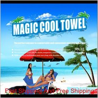 Magic Cool Quick Dry Chair Beach Towels Lounger Mate Beach Ice Towel Sunbath Lounger Bed Garden Beach Chair Cover Towels Cca11688 5Pcs Dnzlp