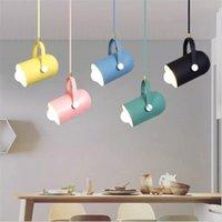Ângulo de lâmpada de minimalismo nórdico Ângulo ajustável E27 Pequeno pingente luzes, decoração de casa lâmpadas de iluminação e luz de showcase da barra