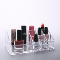 Förvaringslådor Bins Transparent Acrylic Cosmetic Box Makeup Brush Läppstift Arrangör Make Up Verktyg Pen Holder Rack Smycken Display