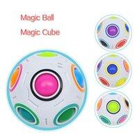 Радужный шар головоломки сферические волшебные кубики игрушка взрослых детей пластиковый творческий футбол обучение развивающие игрушки подарки для детей