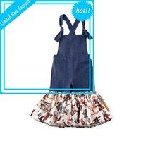 1-6Y Baby Kid Girls Комбинезон Цветы Пэчворк Печать Mouwlless Blue Flare Brokek Комбинезоны