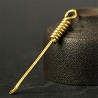 Cuchara de cobre de latón Tubería de fumar Herramienta de limpieza Dab Dabber Spoon Dabber Wax Tool 77mm Longitud Envío gratis
