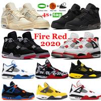 Новые 4 мужские баскетбольные туфли белый x парусник пожарный красный развод черный кот морская звезда 4S металлик фиолетовый зеленый спорт бегущий кроссовки кроссовки 40-47