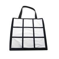 승화 빈 스토리지 가방 크리 에이 티브 9 평방 격자 열 전달 핸드백 야외 대용량 쇼핑 토트 백
