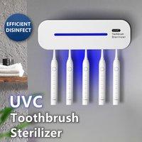 Stérilisateur de brosse à dents de la brosse à dents 1pc en plastique Stérilisateur de brosses à dents ultraviolets automatique