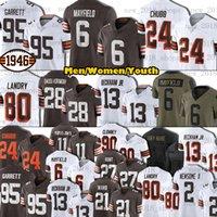 "24 Nick Chubb Cleveland ""Browns"" Fußball Jersey Myles Garrett Baker Mayfield Jeremiah Owusu-Koramoah Odell Beckham Jr Jarvis Landry Kareem Jagd denzel Ward"
