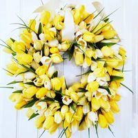 5pcs PU fleur artificielle DIY TULIP Couronne Véritable Touch Touch Bouquet Faux fleurs pour Decoration de mariage de printemps Fournitures à la maison