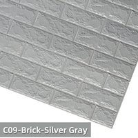 Wall Stickers 3D Sticker Waterproof Imitation Brick Embossed Home Decoration Self-Adhesive Wallpaper Baby Kids Room