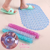 Bath Mats Bathroom Mat Safety Anti-slip PVC Floor Tub Shower Clear Bubble Rug Household Kitchen Rugs Accessories