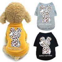 Dog Apparel Sweatshirt Leopard Print Thick Warm Puppy Hoodies Winter Clothes For Small Medium Dogs Pet Costume Jacket