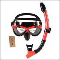 마스크 outdoorslixada adt 어린이 수영 마스크 스노클링 s 스쿠버 다이빙 얼굴 워터 스포츠 드롭 배달 2021 Oex53