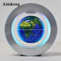2021 참신 스핀 플로팅 글로브 램프 LED 자기 부상 빛 라운드 지구의 마술 밤 빛 어린이 선물을위한