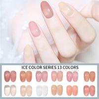 Nail Gel Msk Color Lead 7.3ml Translucent Candy Polish LED&UV Varnish Jelly Glass Art Tips Gemstone