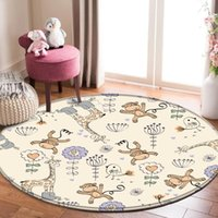 Teppiche Tier Alphanumerische Druckdecke Für Baby Kind Spiel Runde Teppich im Kinderzimmer Hohe Qualität Kinder Cartoon