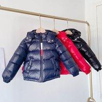 Kinder Daunenmantel Kinder Winter Outwear Jungen Kleidung Baby Kleidung Kapuzenjacke Kurze Mäntel Warme B8406