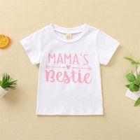 Summer Short T-Shirt Abiti Bambini Baby Girlmama's Bestie Stampa Semplice Top 395 Y2