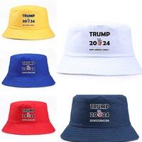 2024 ترامب الولايات المتحدة الانتخابات الرئاسية كاب الرجال النساء دلو قبعة تبقي أمريكا قبعة كبيرة الرئيس ترامب رسائل صياد قبعة قبعة قناع G3501