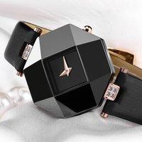 CWP Holuns Montres de Luxe Mode Femmes Robe Montres Coffre Céramique Sangle en cuir Relogio Feminino Dame Quartz Montre-Bracelet