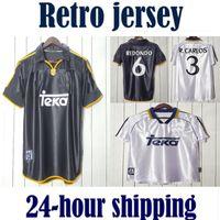 # 7 Raul R.Carlos Hierro Redondo Morientes 1998 1999 2000 Real Madrid Retro Soccer Jersey 98 99 00 Camicia da calcio Vintage Classic Camiseta